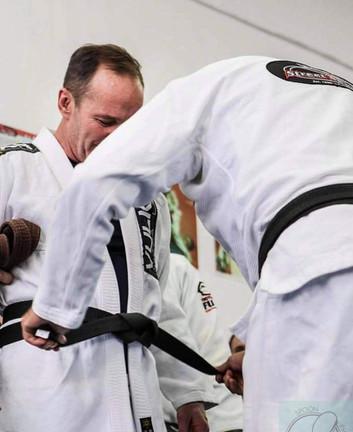 Clark Gregg recieving his Black Belt