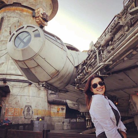 Ming-Na and the Millennium Falcon