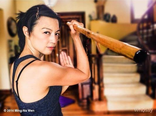 Ming-Na during her Wushu training