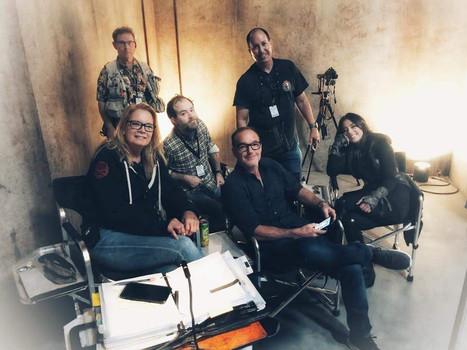 Clark Gregg with AoS Crew