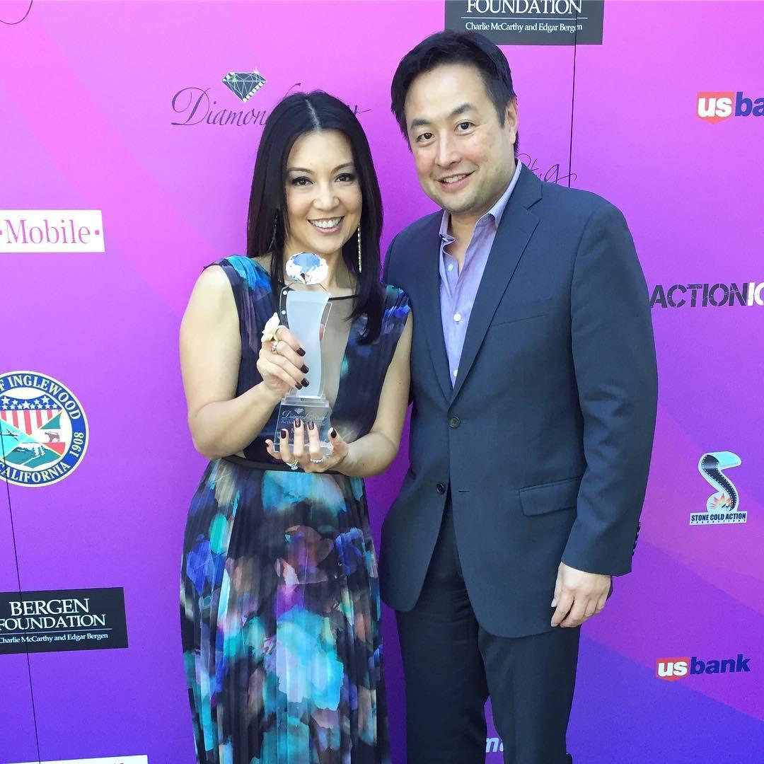 Ming-Na & Eric at the 2017 Action Icon Award