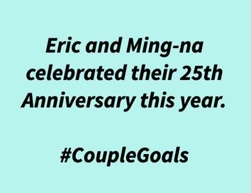 Ming-Na & Eric celebrates their 25th Anniversary