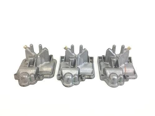 Yamaha 1999 2000 2001 2002 YZFR6 R6 OEM Carburetor Bottom Covers Caps x3 (#2)