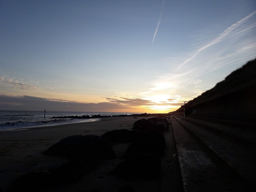 A winter sunrise on the East Norfolk coast.