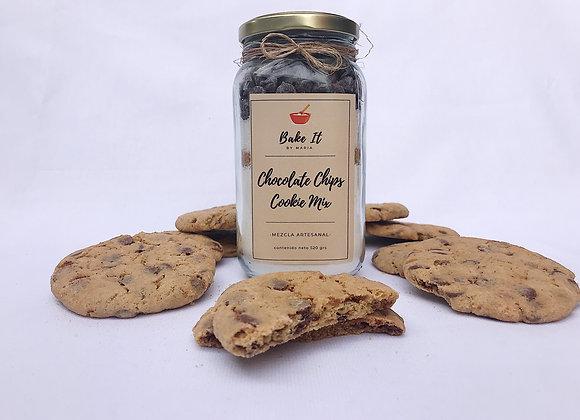 Preparación lista Galletas Chips de Chocolate
