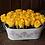 Thumbnail: Arreglo de 24 rosas con base metálica vintage