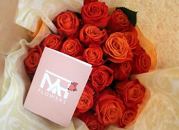 Arreglo en empaque para regalo con 24 rosas tipo exportacion