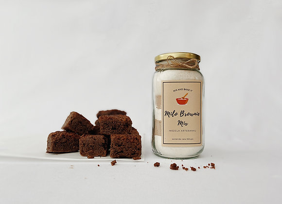 Preparación lista para Brownies de Milo