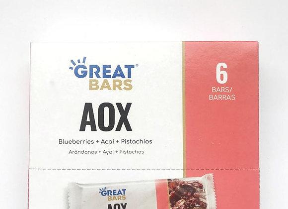 Barras nutricionales Aox - x6