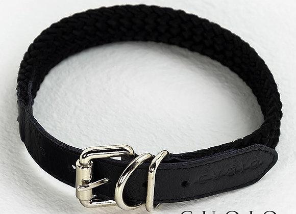 Collar Black Smoke con Cuero Negro