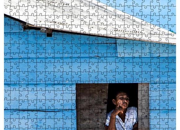 """Rompecabezas """"Su ventana y el Azul"""" - 108 fichas"""