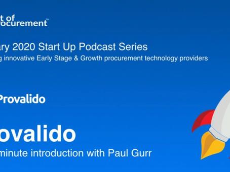 Art of Procurement Podcast - featuring Provalido Managing Director, Paul Gurr