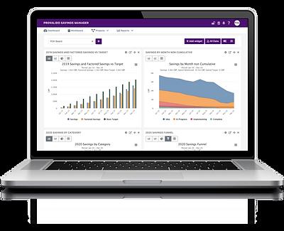 Procurement savings report online tool