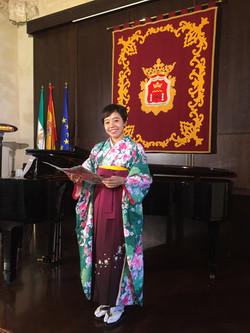 小野瑠奈アンヘラ 独唱「早春賦」「花」さくらとロンダセレモニーにて