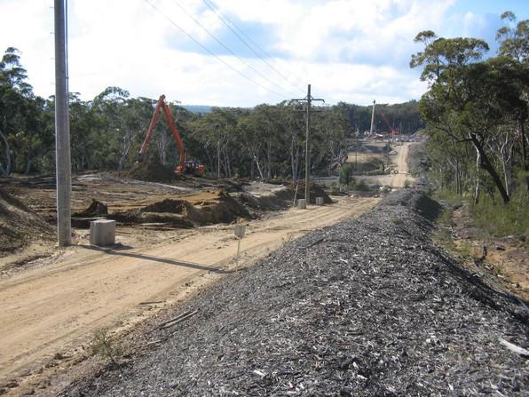 Vent shaft construction, Dendrobium lease area