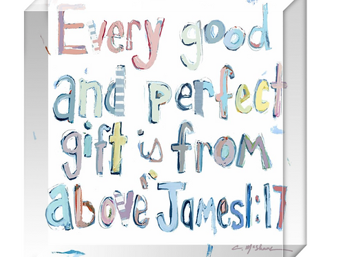 James 1:17 Acrylic block