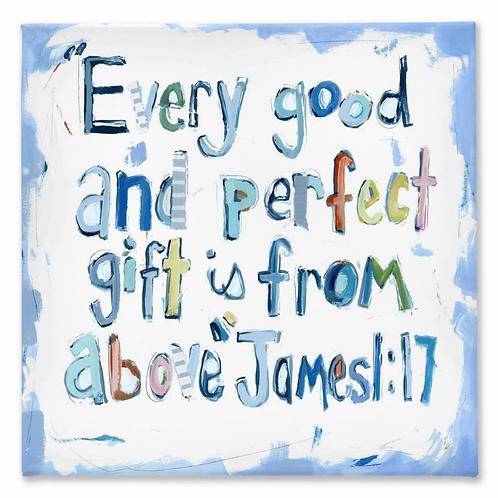 James 1:17 on canvas