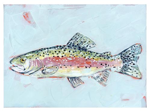 Rainbow Fish on paper