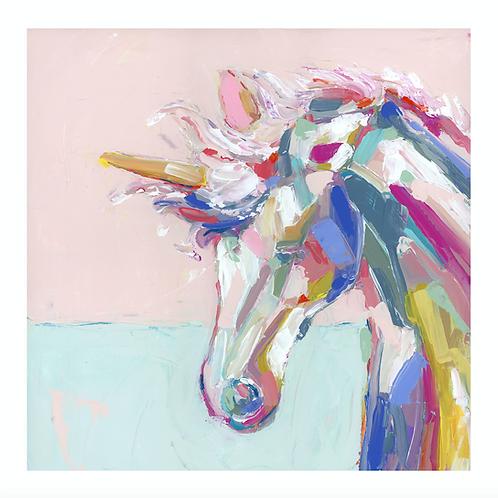 Rainbow Unicorn on paper