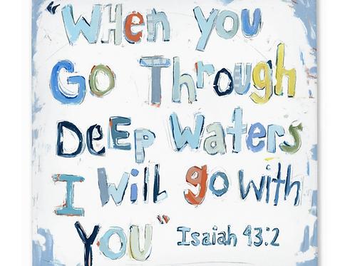 Isaiah 43:2 on canvas