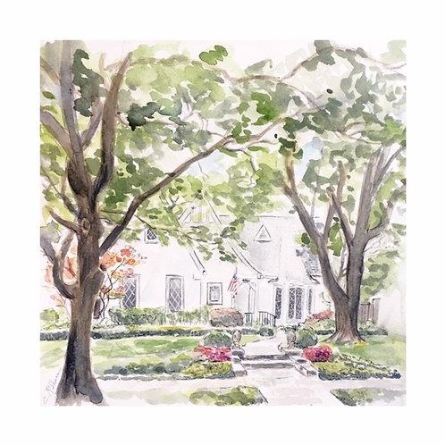 Custom Home or Building Illustration