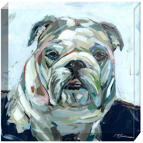 Bulldog Acrylic block