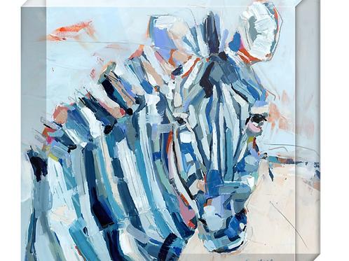 Blue Stripes Acrylic block