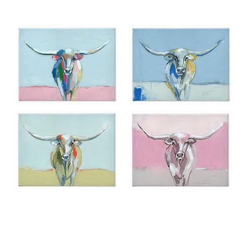 Longhorns on Canvas