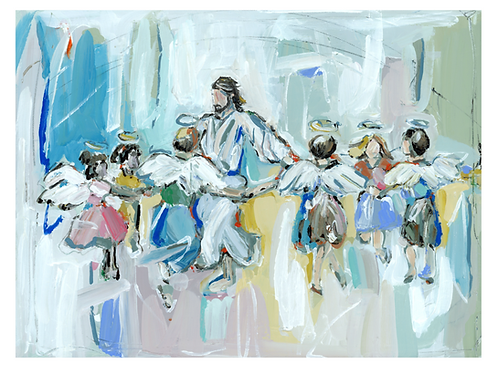 """""""Dancing with Jesus"""" on paper"""