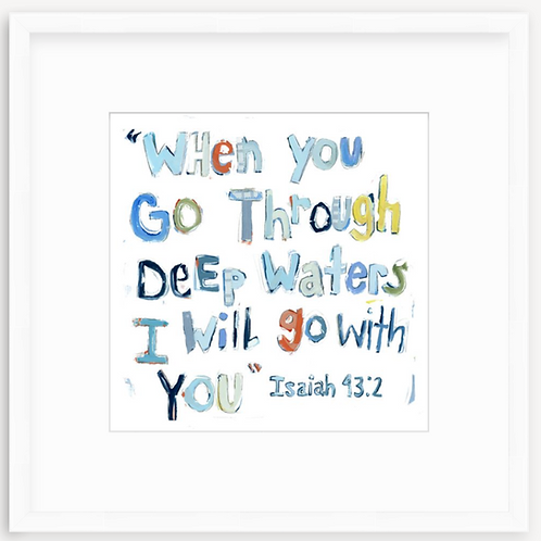 Isaiah 43:2 on paper