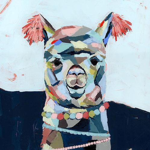 Macca the Alpaca on canvas