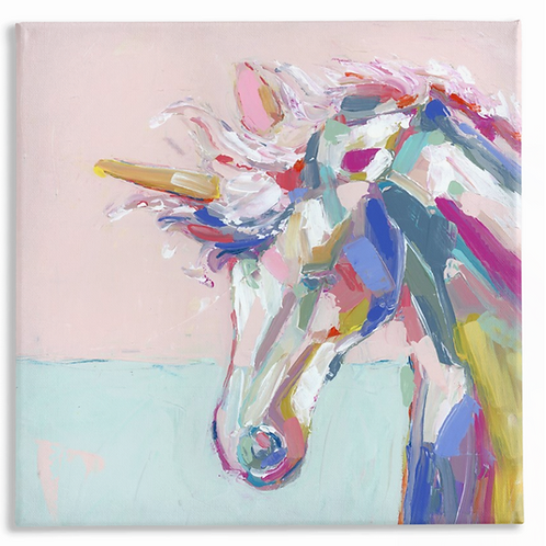 Rainbow Unicorn on canvas