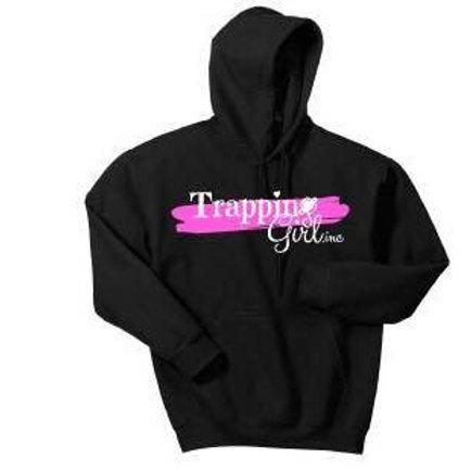 Kids Hooded Sweatshirt - Pink and Black