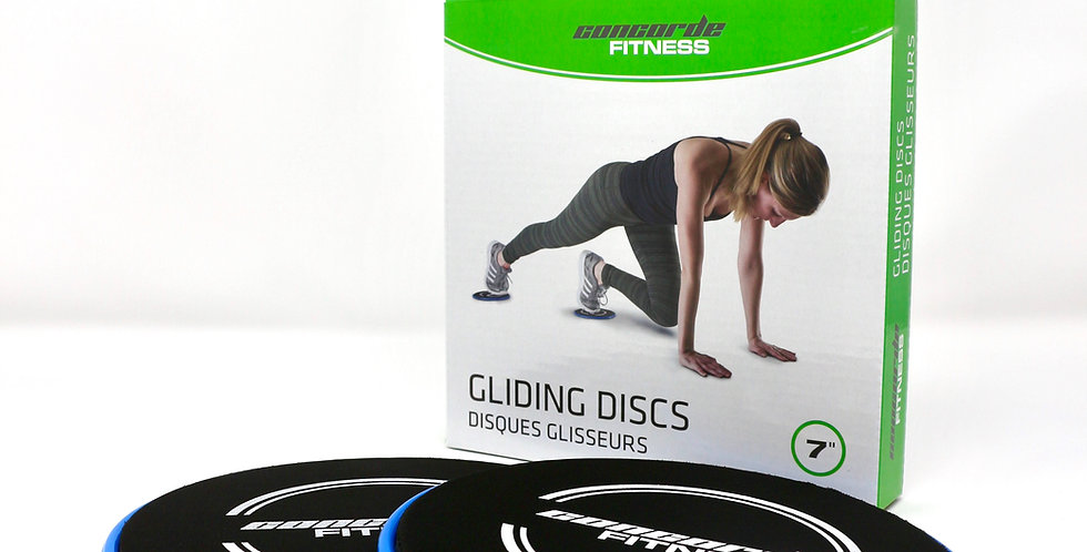 Corcorde gliding discs for at home workout on hardwood floors or carpet