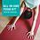 Man doing downward dog on red Harmony Professional yoga mat from JadeYoga
