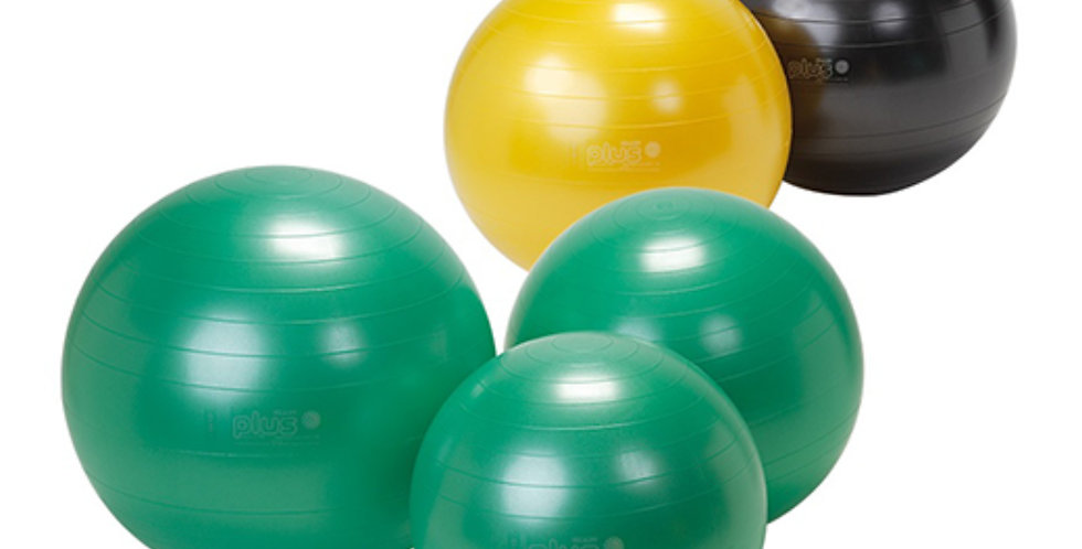 "Selection of 55"", 65"" and 75"" exercise balls for core strength and posture correction"