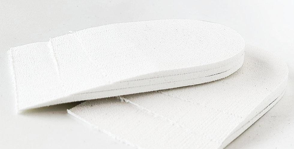 White 9mm adjustable heel lift for Achilles tendonitis