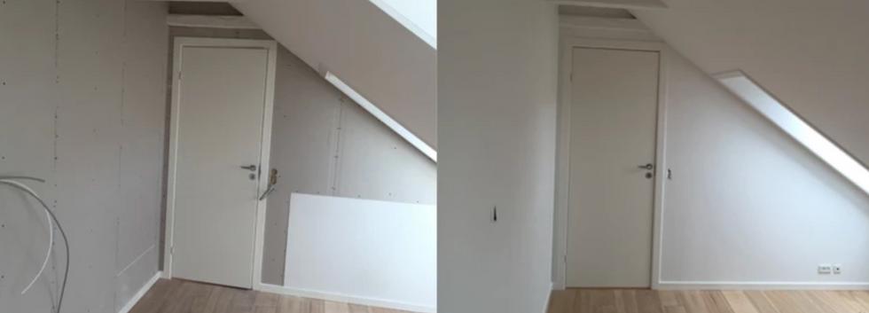 Malerarbejde i rum