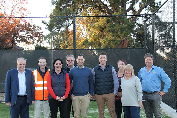 The PTC Committees on the new Synthetic Grass courts