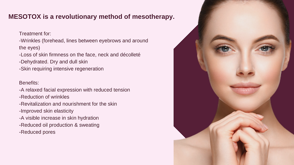 Mesotox treatment for antiaging