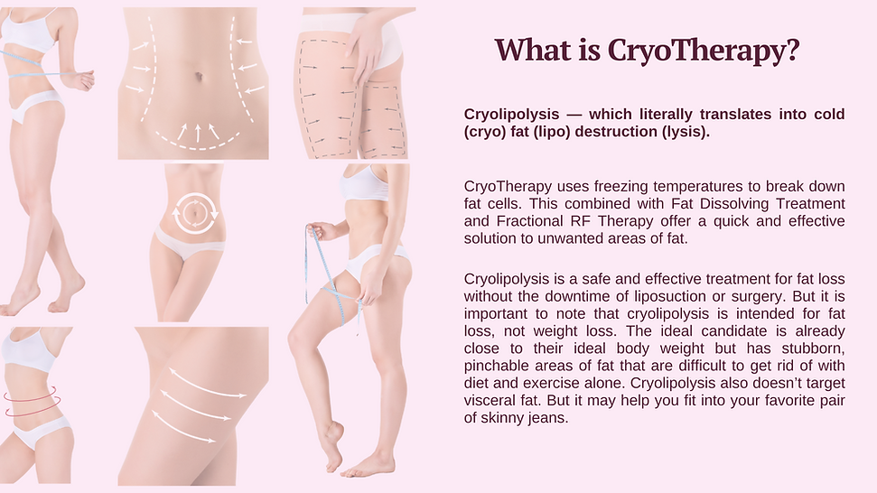 Cryotherapy for fat treatment