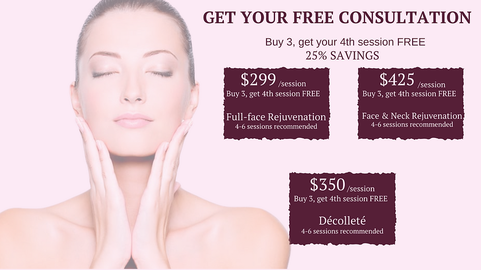 Collagen induction treatment promo packages with free consultation