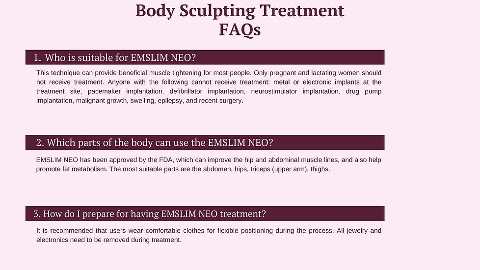 WEBSITE - Body Sculpting FAQs