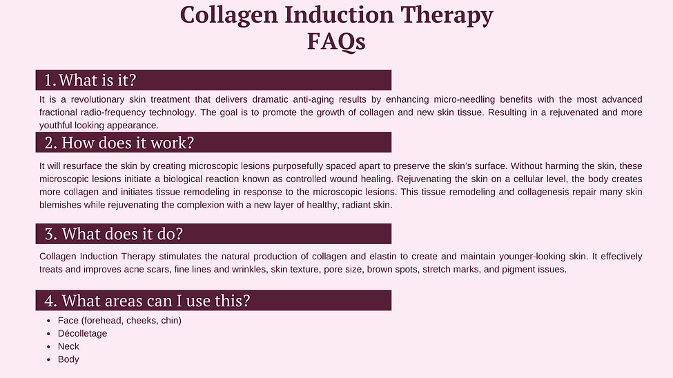 Collagen Induction most answered questions