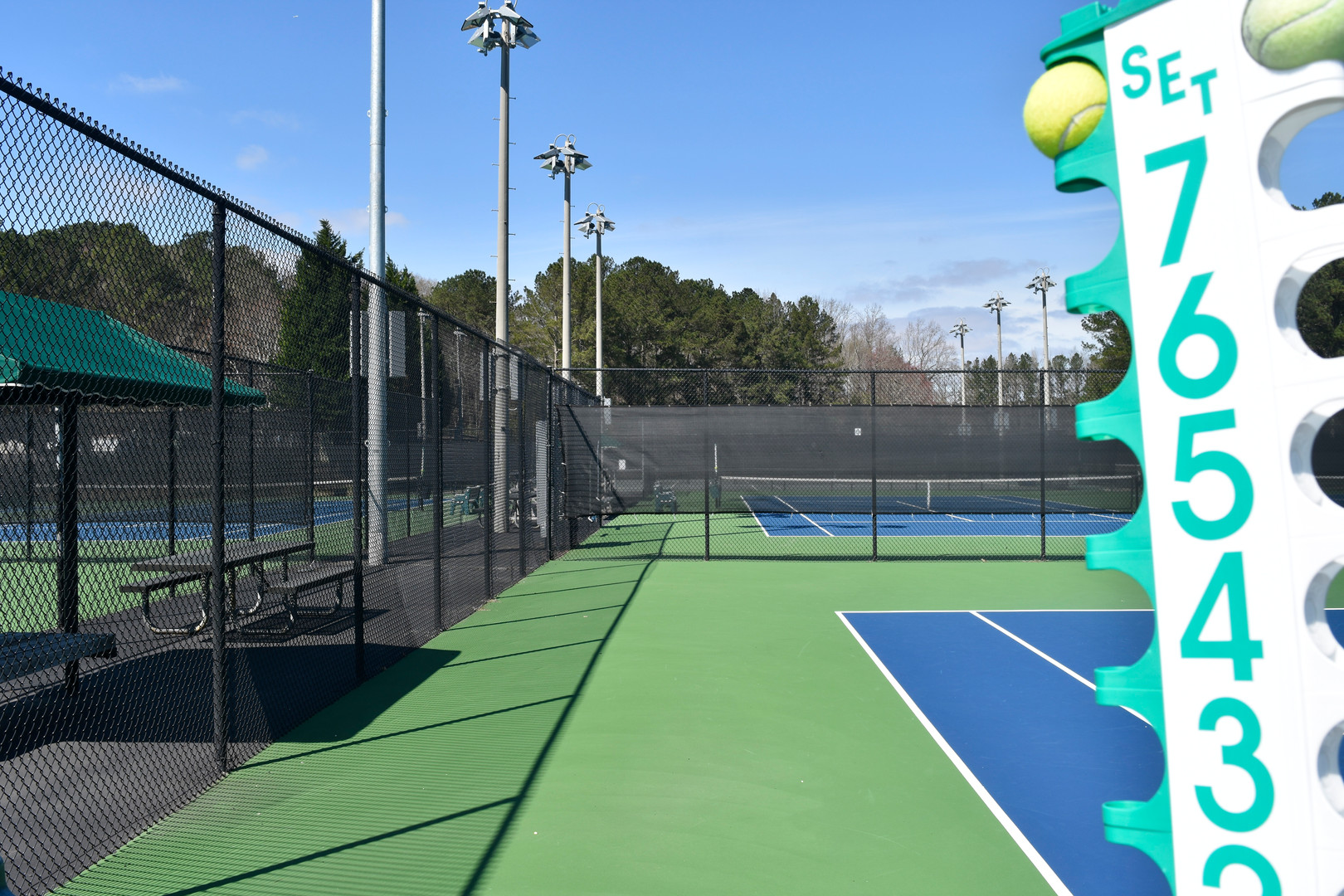 Court 3 at Sugar Creek Golf & Tennis Center