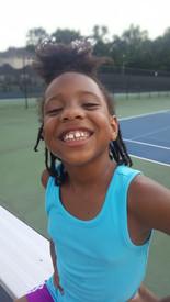 Imani at Summer Tennis Camp 2021