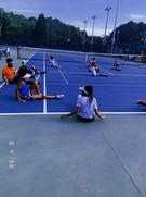 Tennis Camp Morning Streching