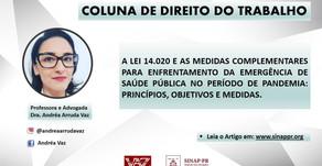 A LEI 14.020 E AS MEDIDAS COMPLEMENTARES AO ENFRENTAMENTO DA EMERGÊNCIA DE SAÚDE PÚBLICA.