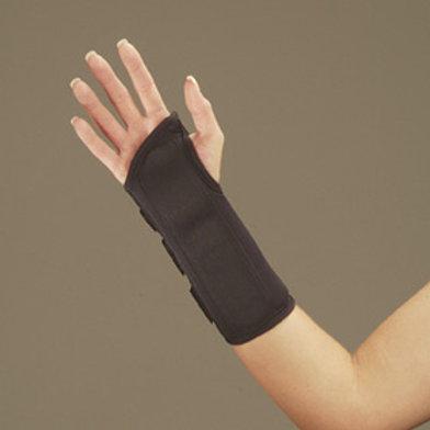 """Deroyal Right Wrist Splint with D-Ring Closure 8"""" L, Small, Black, Foam"""