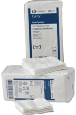 """Curity™ Non-Sterile Cover Sponge 4"""" x 4"""" Filled with Layer of Cellulose Wadding Covered with Non-Woven Fabric"""